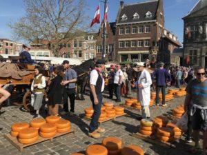 gouda cheese market landfriend netherland